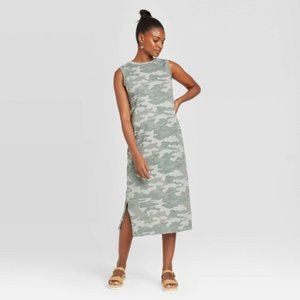 Universal Thread Camo Print Sleeveless Knit Dress
